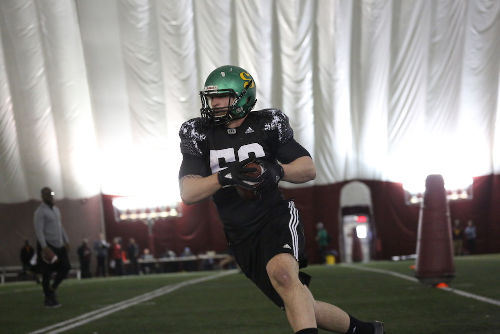 Anthony Gosselin at the Eastern Regional Combine presented by adidas. Photo credit: Briana Thicke/CFL.ca