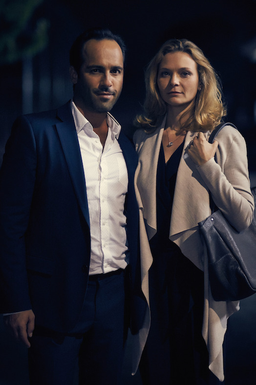 Alex Dimitriades as Joe and Leeanna Walsman as Anna in STOA.  Photo by Ben King.
