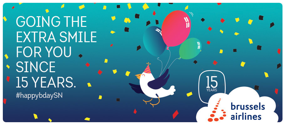 Brussels Airlines celebrates its 15th anniversary