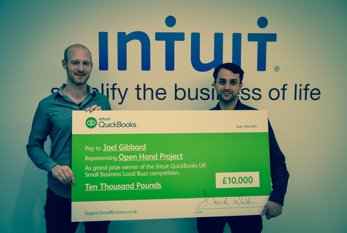 INTUIT PUTS £10,000 IN THE PALM OF STARTUP THE OPEN HAND PROJECT