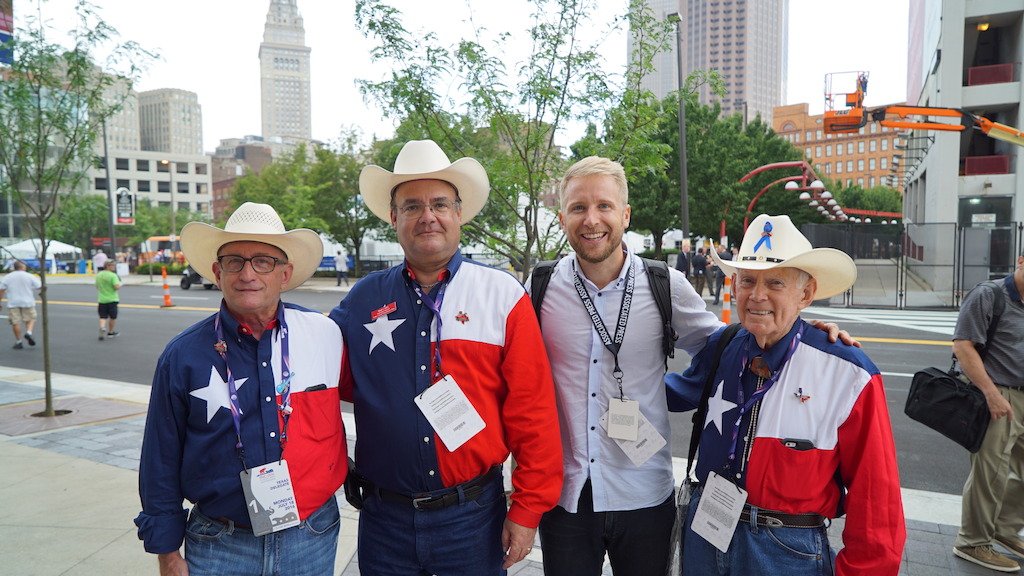 Reporter Hamish Macdonald with Texan Republicans