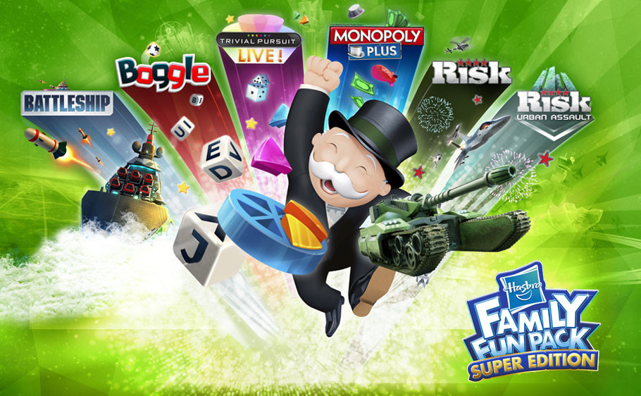 DIVIÉRTETE EN FAMILIA CON EL HASBRO FAMILY FUN PACK SUPER EDITION®