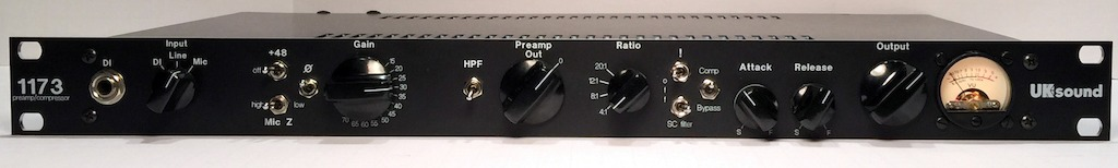 The UK Sound 1173 Mic Pre Compressor