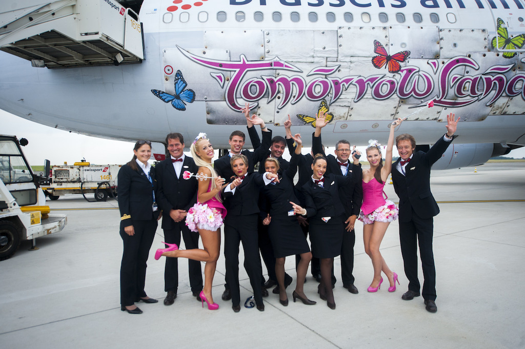 Tomorrowland party flight