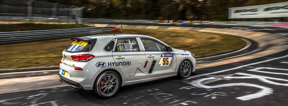 Final test for Hyundai i30 N during the Nürburgring 24-hours race