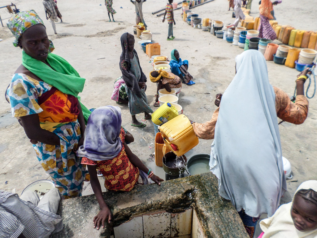 People in the camp reported having less than half a litre of water per person per day.