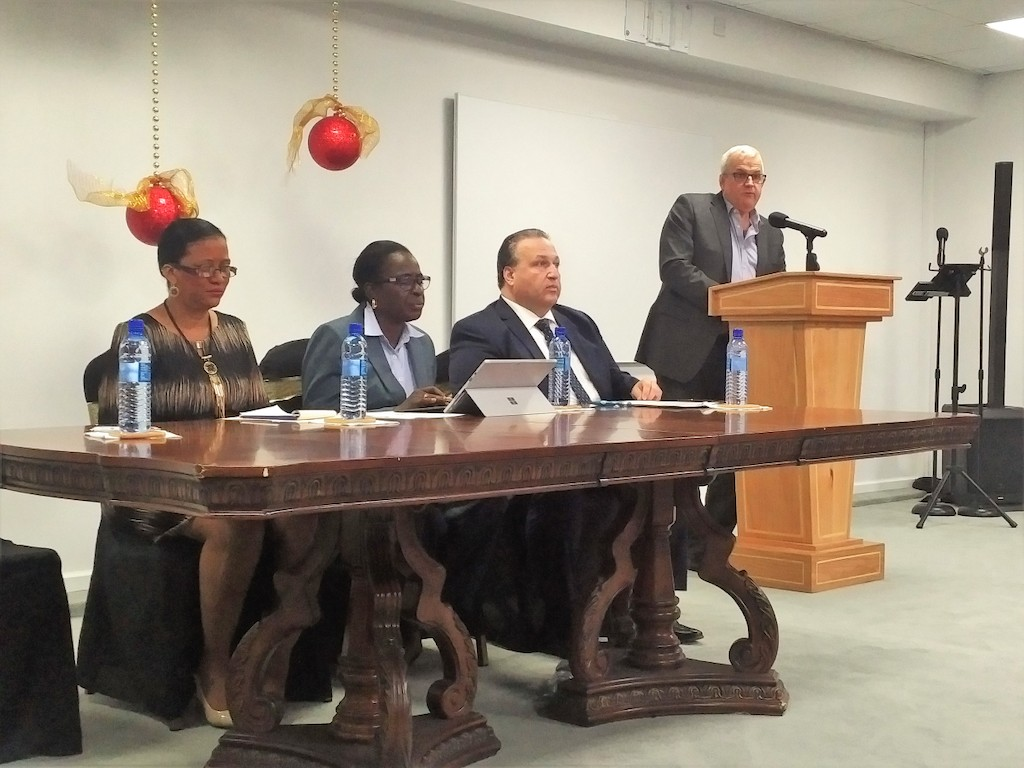 Opening remarks at the ceremony were delivered by Mrs. Wendy Francette-Williams, CEO of the Maurice Bishop International Airport, Grenada; Hon. Clarice Modeste-Curwen, Grenada's Minister of Tourism & Civil Aviation; Mr. Domenic Proscia, Vice President of Training, Vaughn College of Aeronautic Engineering, Aviation and Technology; and Mr. Mike St. Laurent,  Airport Strategy and Marketing.