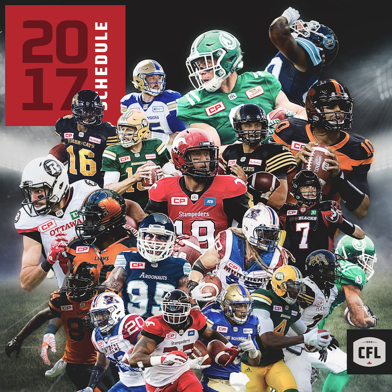 2017 CFL Season Schedule Launch.