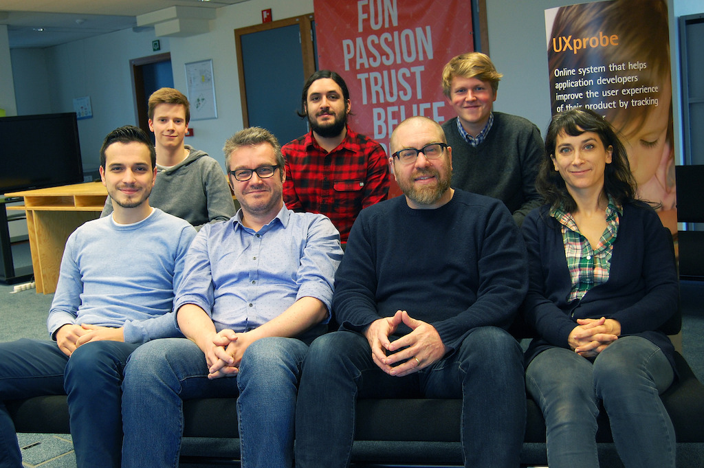 UXprobe's full team on November 2015