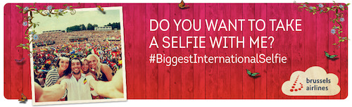 #BiggestInternationalSelfie challenge
