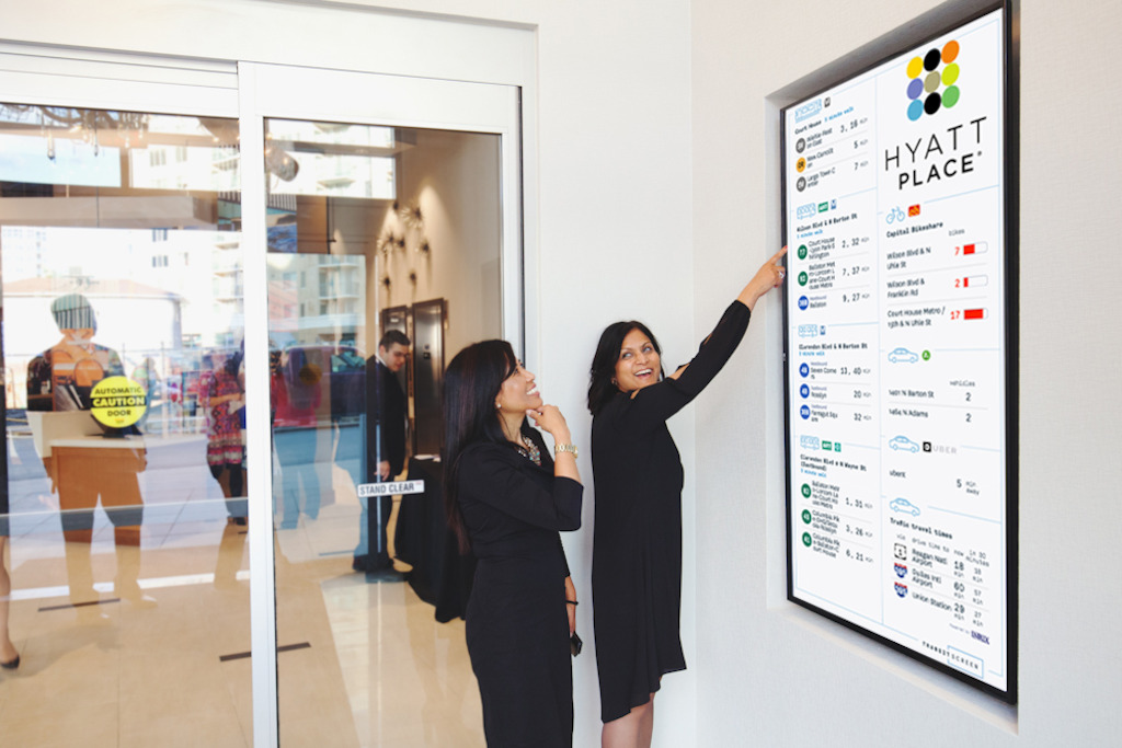 TransitScreen en Hyatt Hotels