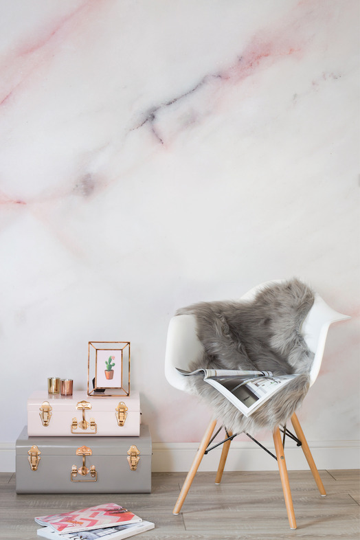Soft Pastel Pink Marble