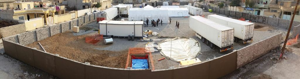 MSF tent and truck hospital in Mosul. Photographer: MSF