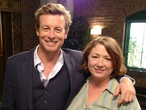 "With Simon Baker on ""The Mentalist"" Set."