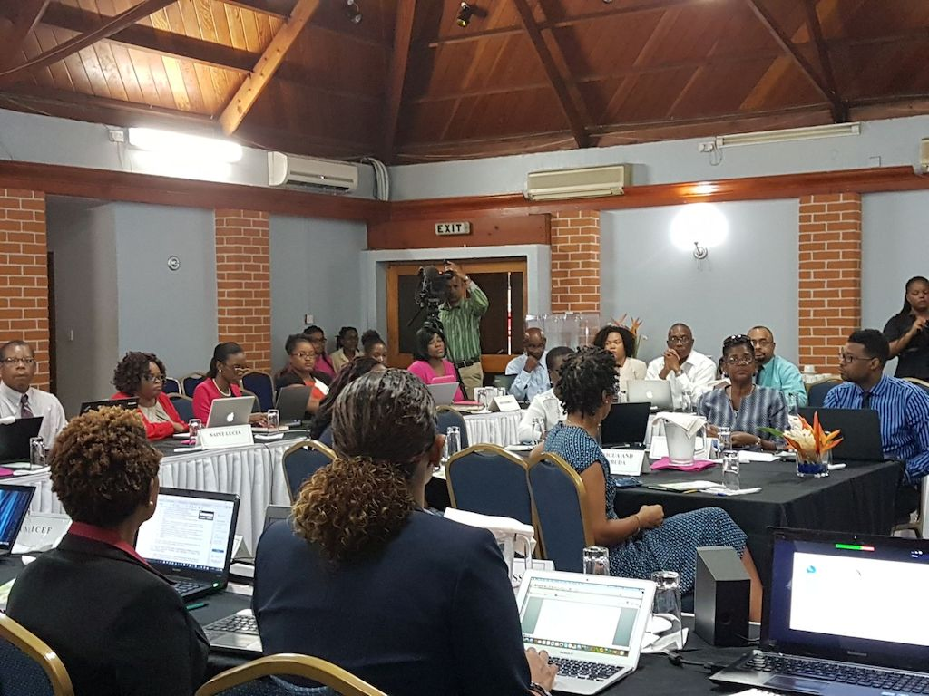 Participants at the OECS Living Standards Measurement Committee (LSMC) Joint Sixth Technical and Ninth General meeting