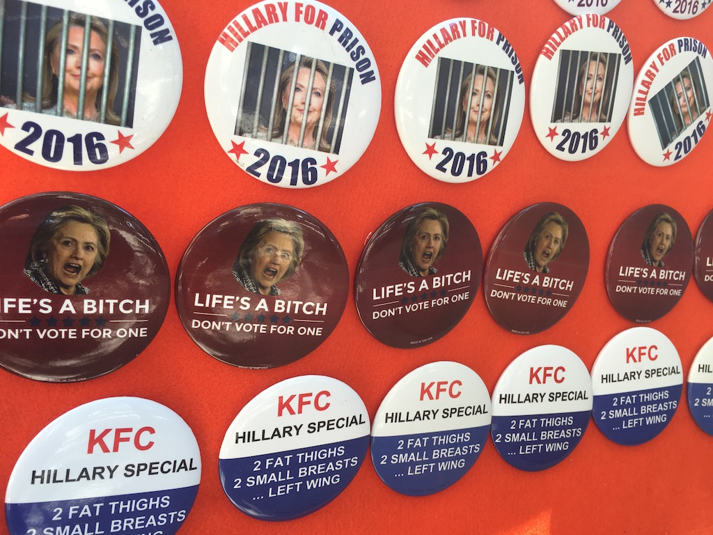 Republicans' anti-Clinton merchandise