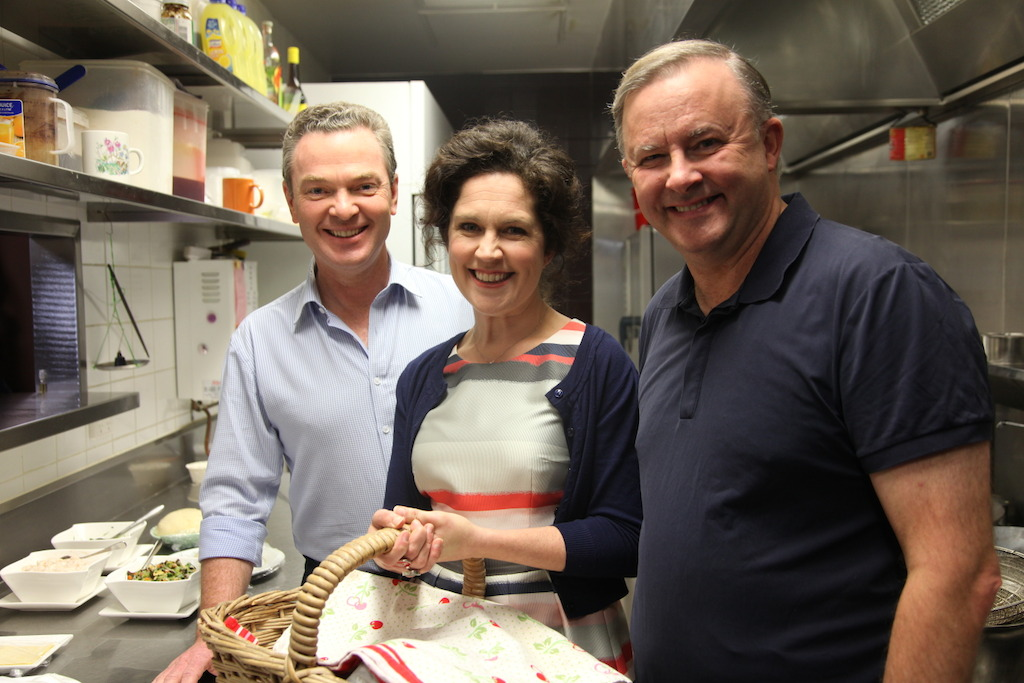 Christopher Pyne, Annabel Crabb & Anthony Albanese