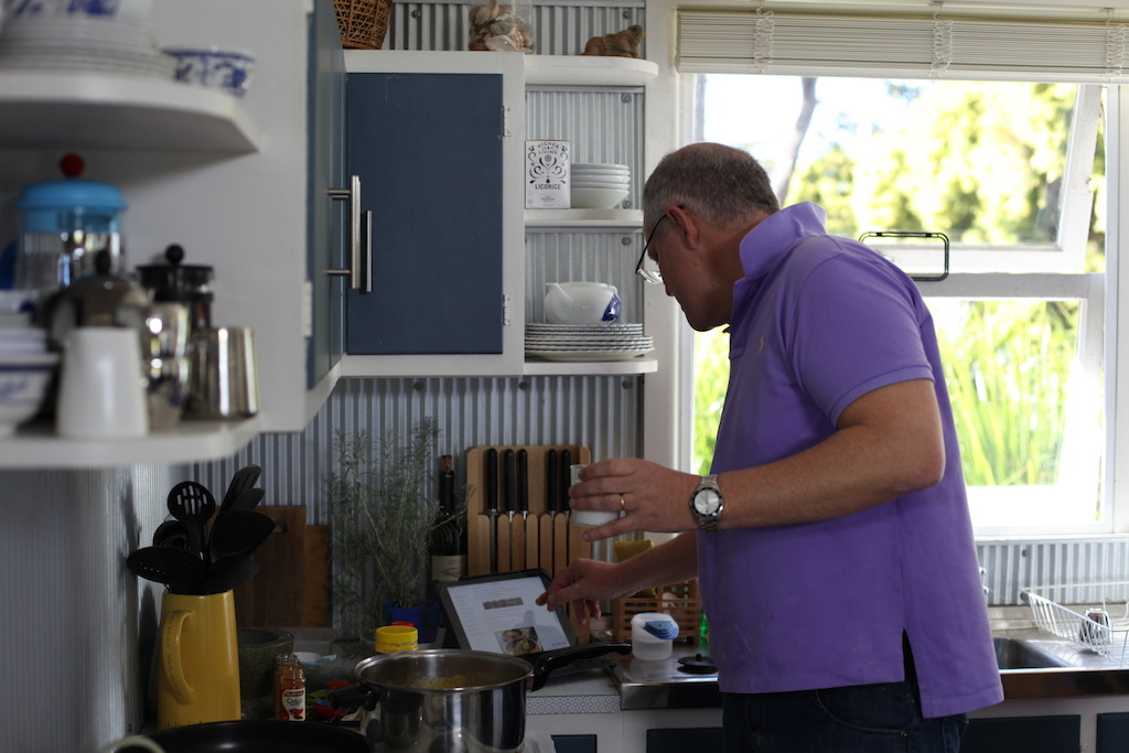 Scott Morrison in the kitchen