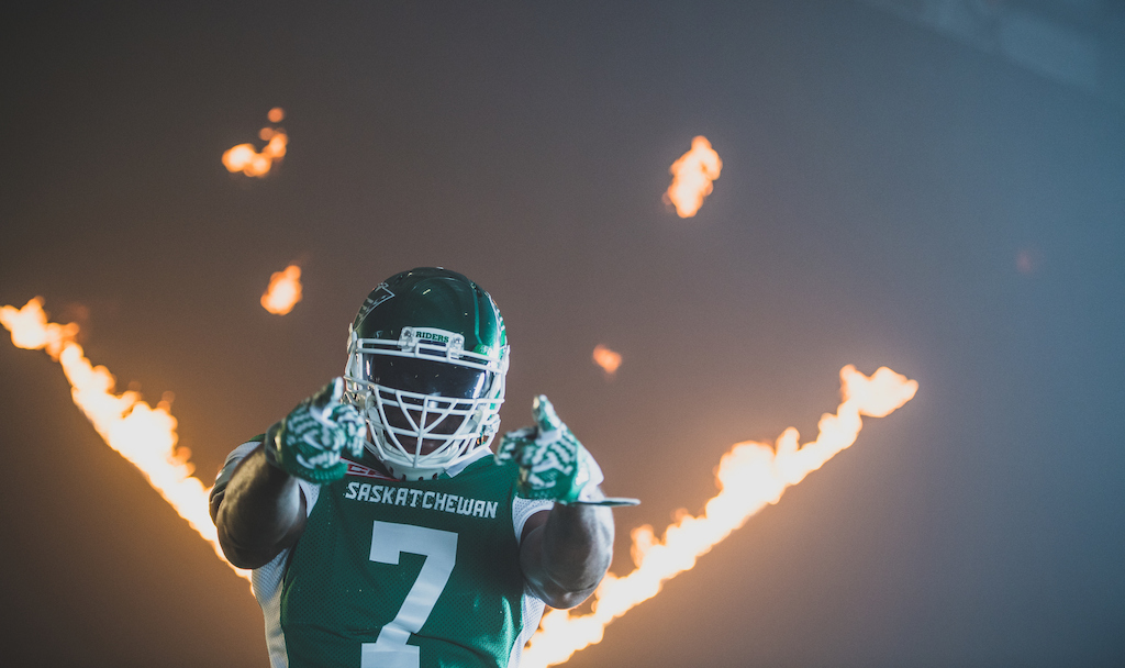 Willie Jefferson at the TSN/adidas content shoot. Photo credit: Johany Jutras/CFL