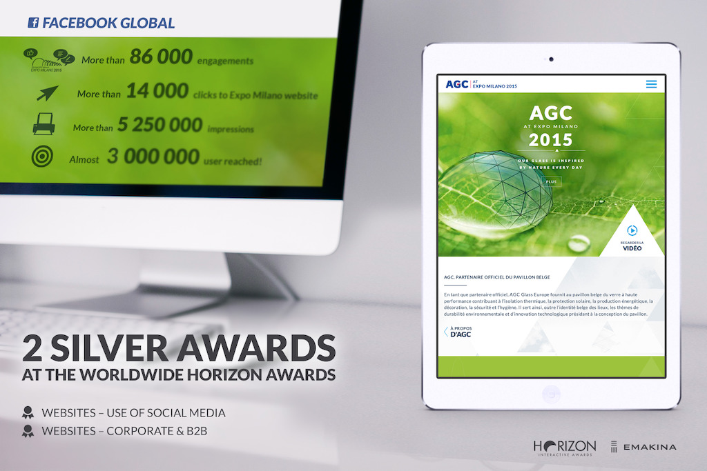 AGC Glass, winner of two Silver horizon Awards