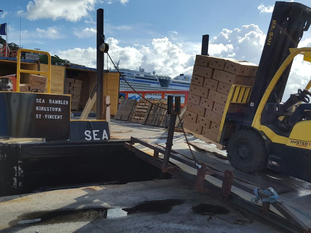 Agricultural shipment being prepared for The Sea Rambler -<br/> one of the ships under the agri-export initiative
